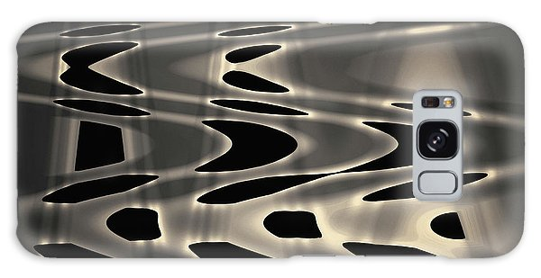 Galaxy Case featuring the photograph Silvery Abstraction Toned  by David Gordon