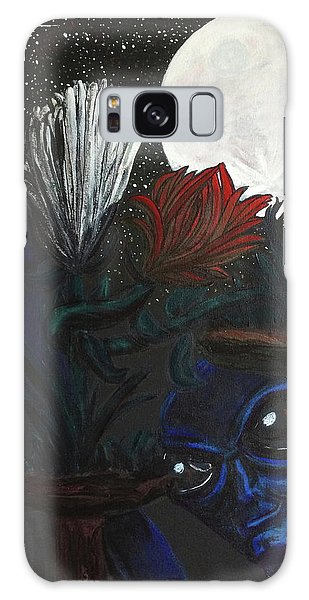 Similar Alien Appreciates Flowers By The Light Of The Full Moon. Galaxy Case