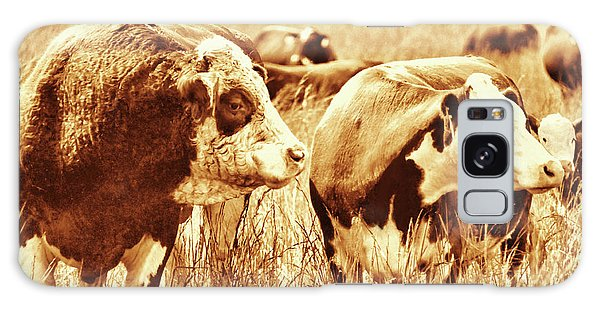Simmental Bull 3 Galaxy Case by Larry Campbell