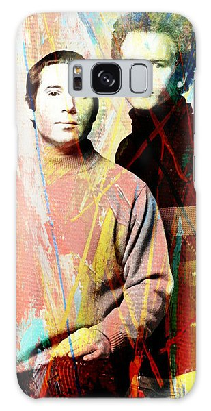 Simon And Garfunkel Galaxy Case - Simon And Garfunkel Color Art Poster by Pd