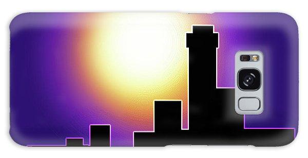 Simple Skyline Silhouette Galaxy Case by Yvonne Blasy
