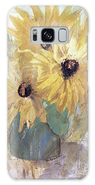 Galaxy Case featuring the painting Simply Sunflowers  by Robin Maria Pedrero