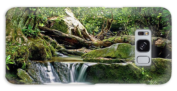 Sims Creek Waterfall Galaxy Case by Meta Gatschenberger