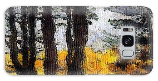 Simulated Van Gogh Scene Galaxy Case