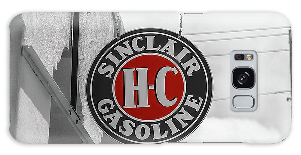 Sinclair Gasoline Round Sign In Selective Color Galaxy Case