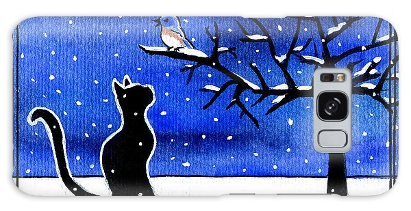 Sing For Me - Black Cat Card Galaxy Case
