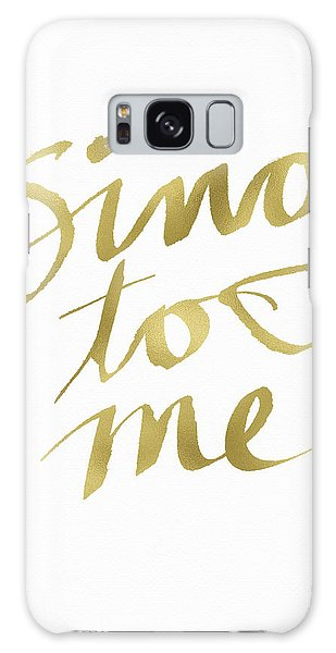 Song Galaxy Case - Sing To Me Gold- Art By Linda Woods by Linda Woods
