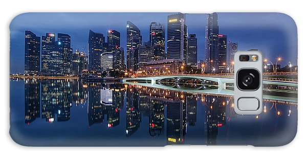 Singapore Skyline Reflection Galaxy Case