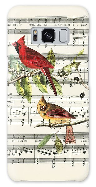 Swallow Galaxy Case - Singing Cardinals by Delphimages Photo Creations