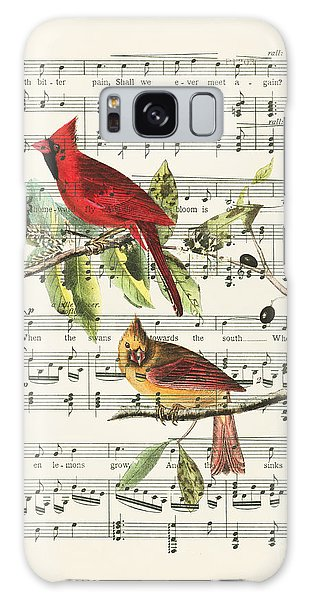 Song Bird Galaxy Case - Singing Cardinals by Delphimages Photo Creations