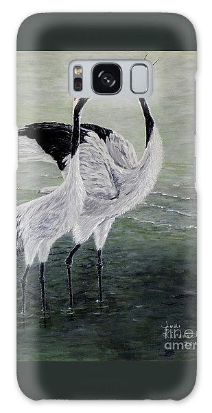 Singing Cranes Galaxy Case