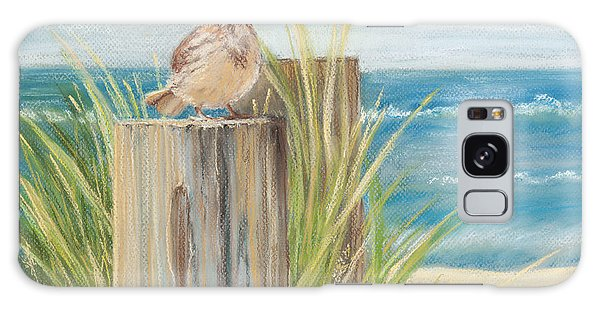 Singing Greeter At The Beach Galaxy Case by Michelle Wiarda