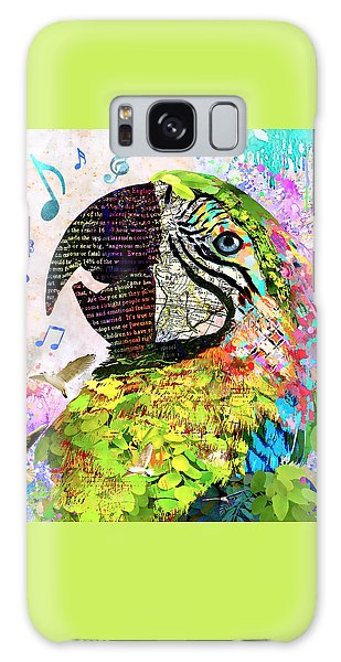 Song Birds Galaxy Case - Singing The Blues - Macaw by Stacey Chiew