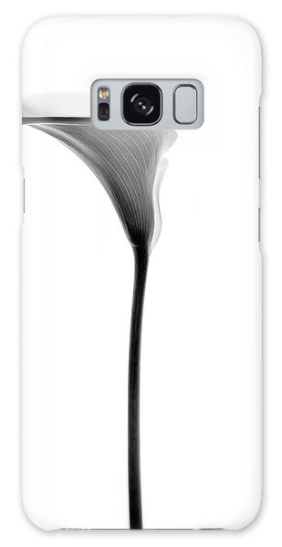 Single Cala Tall Black And Whte Galaxy Case by Rebecca Cozart