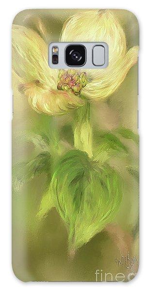 Single Dogwood Blossom In Evening Light Galaxy Case by Lois Bryan