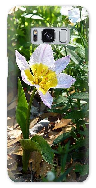 Single Flower - Simplify Series Galaxy Case by Carla Parris