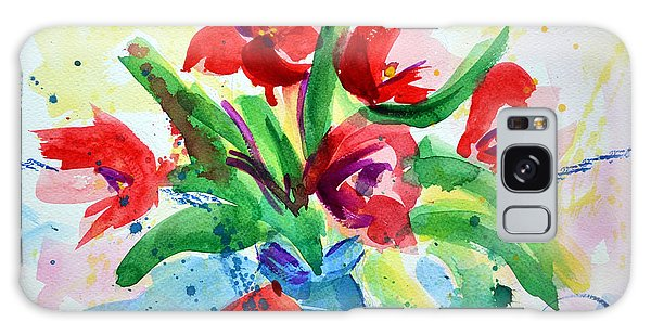 Single Minded Flowers Galaxy Case by Lynda Cookson