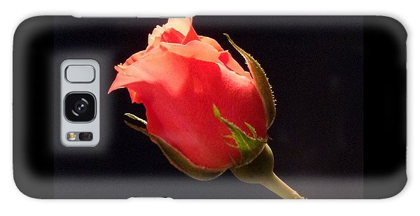 Single Pink Rose Bud Galaxy Case