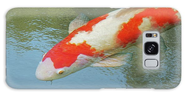 Single Red And White Koi Galaxy Case by Gill Billington