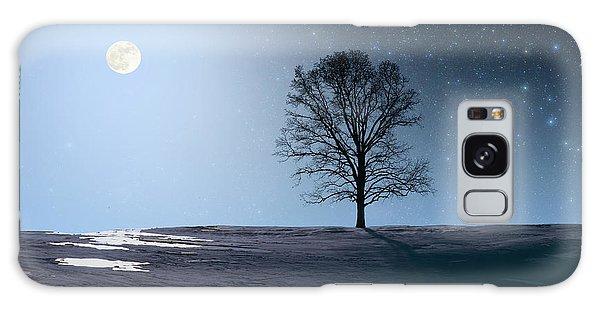 Single Tree In Moonlight Galaxy Case