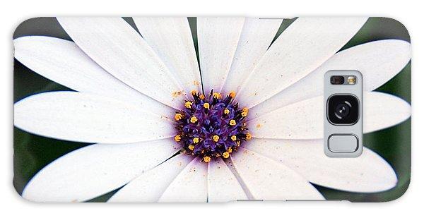 Single White Daisy Macro Galaxy Case