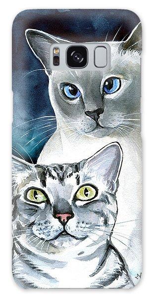 Sini And Nimbus - Cat Portraits Galaxy Case