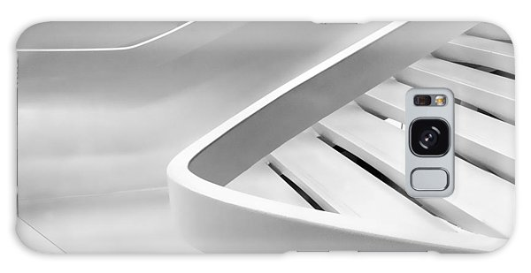 Banister Galaxy Case - Sinuous In White by Jessica Jenney