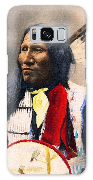 Sioux Chief Portrait Galaxy Case