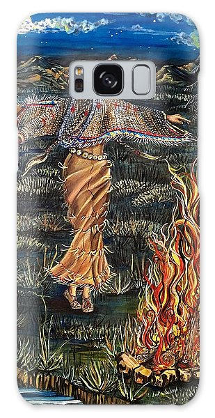 Sioux Woman Dancing Galaxy Case