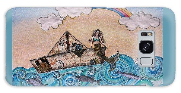 Siren On A Paper Boat Galaxy Case