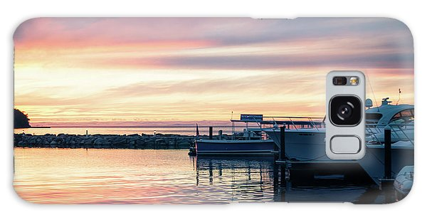 Sister Bay Marina At Sunset Galaxy Case