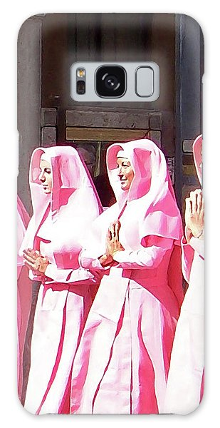 Sisters In Pink Galaxy Case