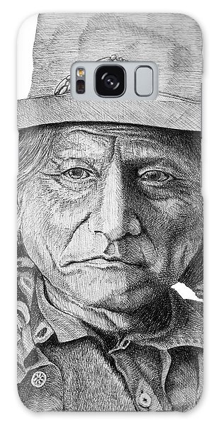 Sitting Bull Galaxy Case by Lawrence Tripoli