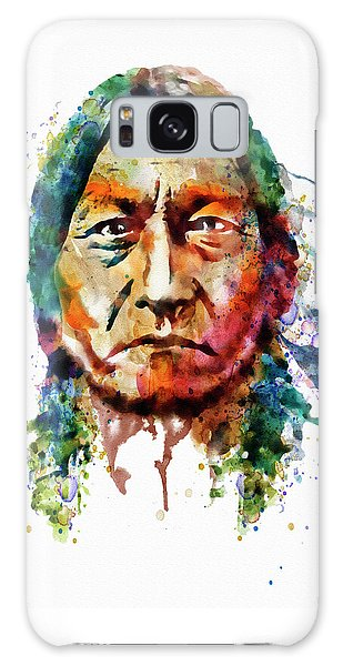 Sitting Bull Watercolor Painting Galaxy Case