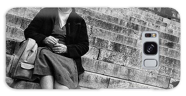 Religious Galaxy Case - Sitting Nun  #woman #nun #religion by Rafa Rivas
