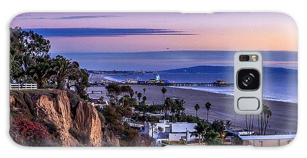 Sitting On The Fence - Santa Monica Pier Galaxy Case