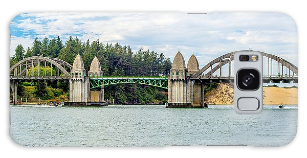 Siuslaw River Draw Bridge  Galaxy Case