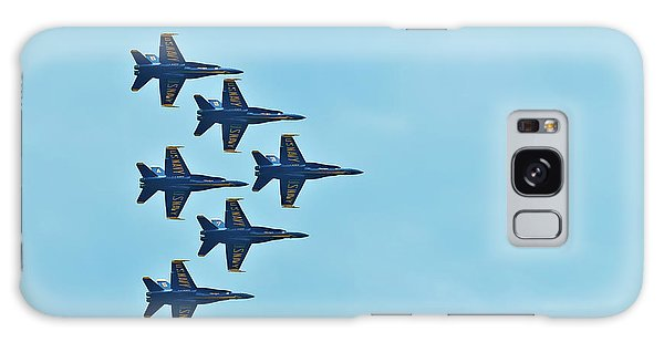 Six Blue Angels In The Clear Blue Sky Galaxy Case
