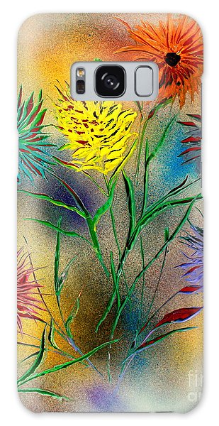 Six Flowers - E Galaxy Case by Greg Moores