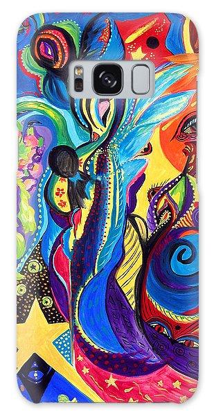 Guardian Angel Galaxy Case by Marina Petro