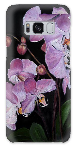 Six Orchids Galaxy Case by Sandra Nardone
