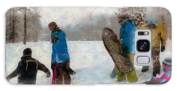 Six Sledders In The Snow Galaxy Case