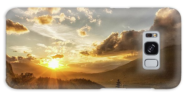 Skagit Valley Sunset Galaxy Case