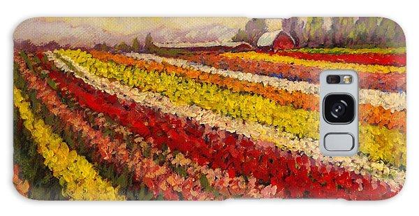 Skagit Valley Tulip Field Galaxy Case