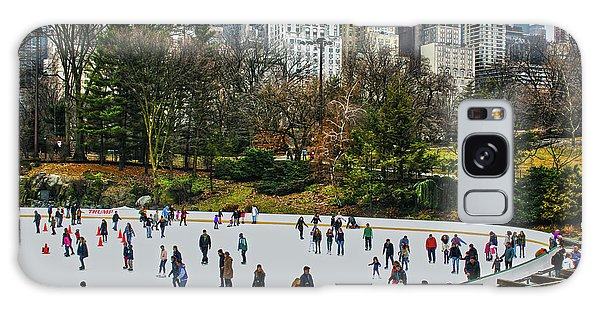 Skating At Central Park Galaxy Case by Sandy Moulder