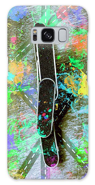 Colours Galaxy Case - Skating Pop Art by Jorgo Photography - Wall Art Gallery