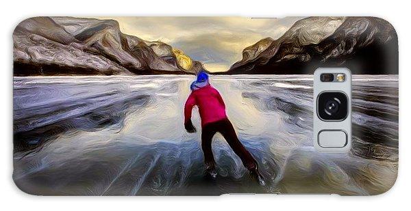 Skating Through The Mountains Galaxy Case
