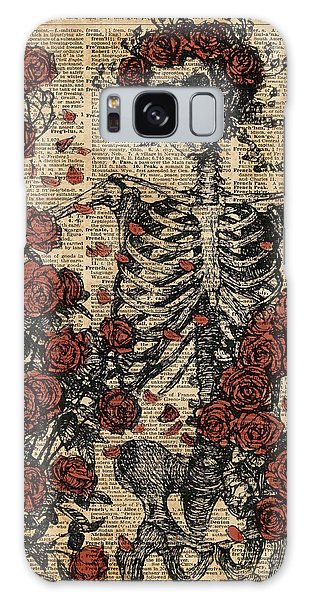 Skulls Galaxy Case - Skeleton Art, Skeleton With Roses Book Art,human Anatomy by Anna W