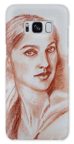 Sketch In Conte Crayon Galaxy Case