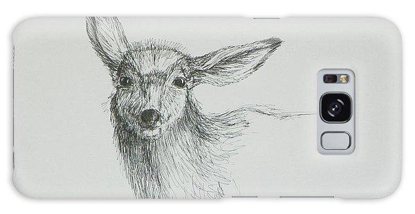 Sketch Of A Mule Deer Doe Galaxy Case